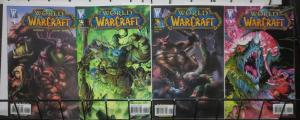 WORLD OF WARCRAFT 4 ISSUE LOT! F-VF #1,4,4a,5a, Blizzard! high fantasy action!