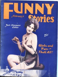 FUNNY STORIES-1931 FEB-RARE BEDSHEET FORMAT PULP-SPICY INTERIOR ART-HUMOR