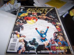 Justice Society of America #1 (Feb 2007, DC) LIBERTY BELL STEEL  flash hawkman