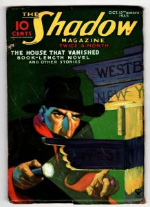 SHADOW 1935 October 15 -HIGH GRADE- STREET AND SMITH-RARE PULP FN