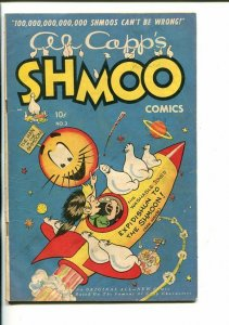 AL CAPP'S SHMOO #3-1949-TOBY-MOON ROCKET-WASHABLE JONES-vg+
