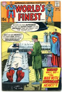 WORLDS FINEST #189 1969-BATMAN-SUPERMAN-SURGERY COVER VG