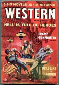 Western Magazine Pulp April 1957- Poker cover- Philip Ketchum VG