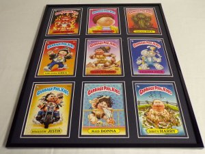 Garbage Pail Kids Framed 16x20 Display Mad Donna Dirty Harry Cracker Jack