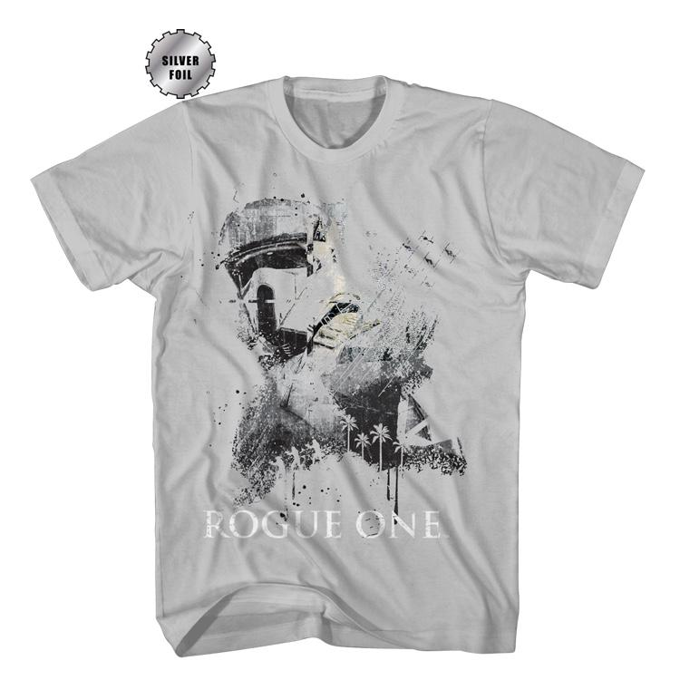 STAR WARS T-SHIRTS ROGUE ONE SILVER FOIL