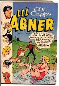 Li'l Abner #79 1950-Toby-Al Capp-Daisy Mae swimsuit-Kurtzman-VG