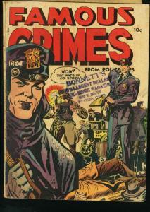 FAMOUS CRIMES #4 CRIME SCENE COVER 1948 BLUE VG