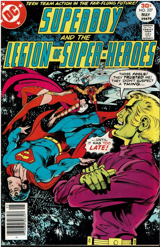Superboy and the Legion of Super Heroes #227, 7.0 or better