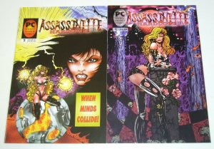 Assassinette: Hardcore #1-2 VF/NM complete series  pocket change comics bad girl