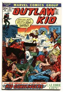 OUTLAW KID #14-1973-MARVEL-GUNFIGHT COVER
