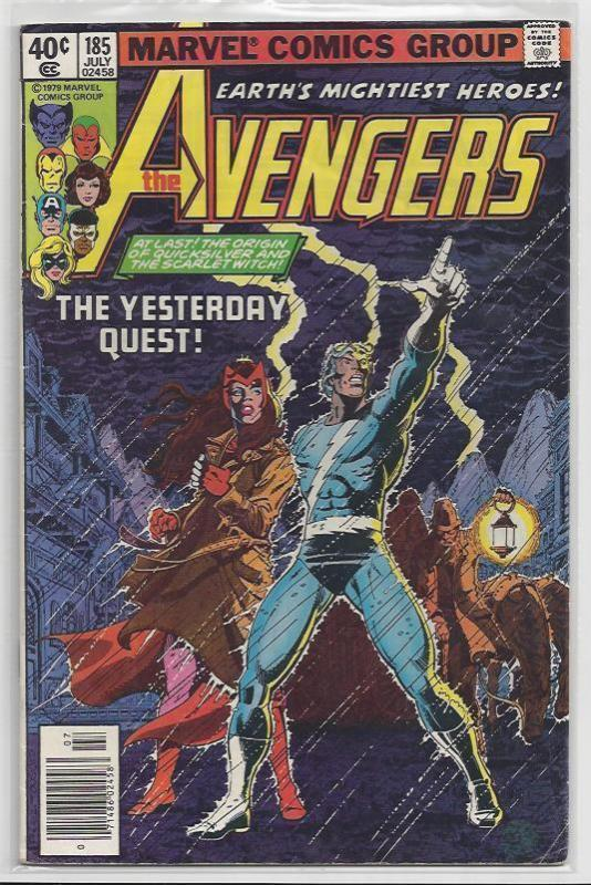 Avengers Issue #185 Autographed Old School Style by John Byrne