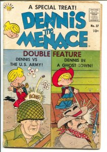 Dennis The Menace #37 1959-Halder-vs The US Army-Jay North pix-G