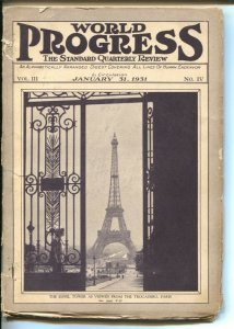 World Progress 1/31/1931-Covers All Lines Of Human Endeavor-Eiffel Tower-Conn...