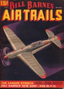 Bill Barnes Air Trails 7/1936-hero pulp-15¢ price-George L Eaton-FN-
