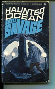 DOC SAVAGE-HAUNTED OCEAN-#51-ROBESON-G/VG-JAMES BAMA COVER-1ST EDITION G/VG