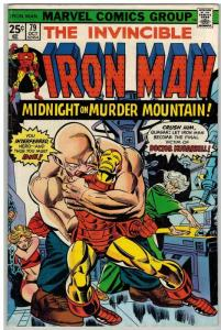 IRON MAN 79 VG-F Oct. 1975 COMICS BOOK