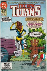 5 The New Titans DC Comic Books # 87 88 89 90 91 Nightwing Cyborg Starfire TW45