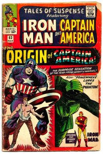 TALES OF SUSPENSE #63 (March '65) 1st Silver Age Origin of Capt America * KIRBY!