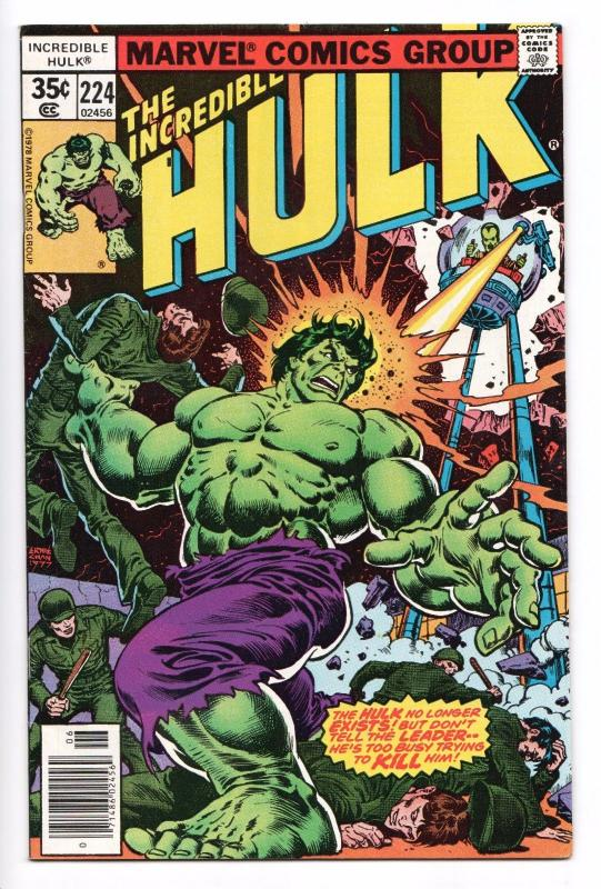 Incredible Hulk #224 - The Leader (Marvel, 1978) - VF/NM