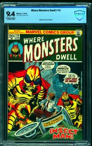 Where Monsters Dwell #19 CBCS NM 9.4 Off White to White