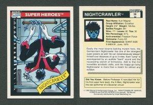 1990 Marvel Comics Card  #38 (Nightcrawler) / NM-MT
