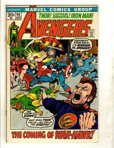 Avengers # 98 VF- Marvel Comic Book Hulk Thor Iron Man Captain America GK2