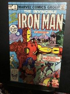 Iron Man Annual #5 (1982) hi grade black panther key! NM- Wow!