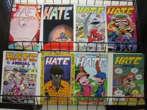 Peter Bagge's Hate (Fantagraphics 1990) #4 5 7-11 Ann 1 Lot Gen X Slacker 8 diff
