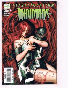 Lot Of 2 Secret Invasion Inhumans Marvel Comic Books # 1 & 3 Of 4 1st Print J73