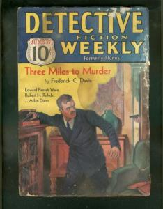 DETECTIVE FICTION WEEKLY PULP-6/17/33-THREE MILES MURDE FR