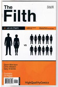 FILTH #1, NM+, Grant Morrison, Erskine, 2002, more Vertigo in store