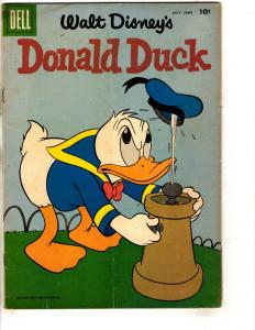 Donald Duck # 59 VG 1958 Dell Silver Age Comic Book Walt Disney BE1