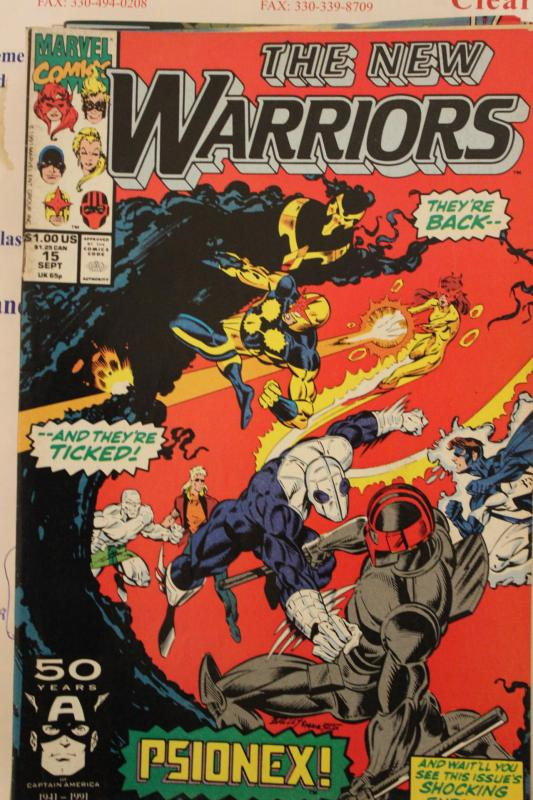 New Warriors 15 VG/FN
