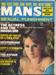 Man's Magazine 1/1972-Merle Haggard-hopped-up youth-Good Girl Art-VG-
