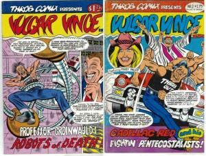 VULGAR VINCE (1986 TH) 1-2  vgf  Patrick Finney COMICS BOOK