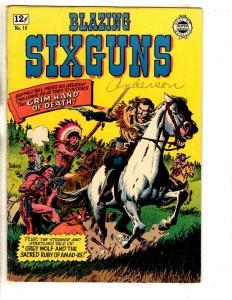 Blazing Six Guns # 16 FN Super Comics Silver Age Comic Book Western Severin JL9