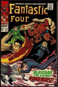 Fantastic Four #63 (Jun 1967, Marvel) 7.5 VF-