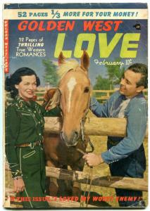GOLDEN WEST LOVE #3 1950 -PHOTO COVER FRANK JAMES OUTLAW G-