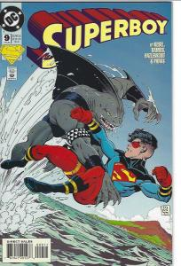 SUPERBOY #9 1ST KING SHARK $12.00 VFN/NMNT