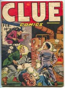 Clue Comics #12 1947- Rackman origin- Nightmare VG-