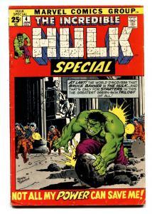 Incredible Hulk Annual #4 comic book 1972-Trimpe cover-Marvel