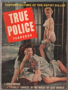 True Police Yearbook #6 1957-suggestive prison girl fight-posed pix-rare-VG