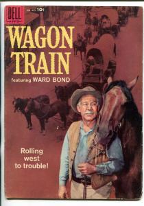 WAGON TRAIN #895 1958-DELL-1ST ISSUE-WARD BOND-FOUR COLOR-TV SERIES-vg