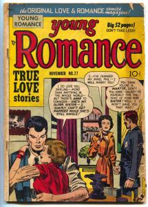 Young Romance #27 1950- Jack Kirby cover- Golden Age comic G+