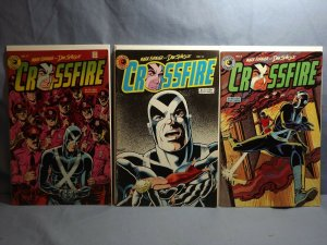 Eclipse Comics CROSSFIRE 3 Issues Two AUTOGRAPHED By MARK EVANIER #9 #13 #17!!
