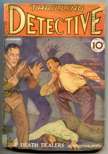 Thrilling Detective Pulp #1 11/1931- Menace of the Shadow