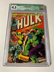 Incredible Hulk 181 Cgc 4.5 Q Qualified 1st Wolverine No Mvs Story Not Affected