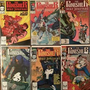 PUNISHER WAR JOURNAL MARVEL VOL.1 #5,7,12,23,23,24 ALL UNREAD NM