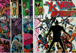 X-Men & Micronauts #1-4, 9.0 or Better
