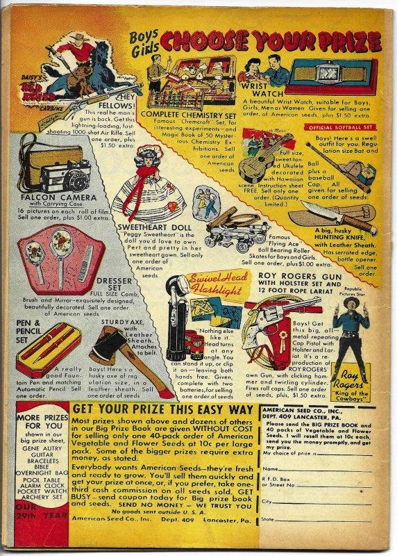 Daredevil Comics #41 Lev Gleason 1944 Charles Biro cover Dan Barry Golden Age